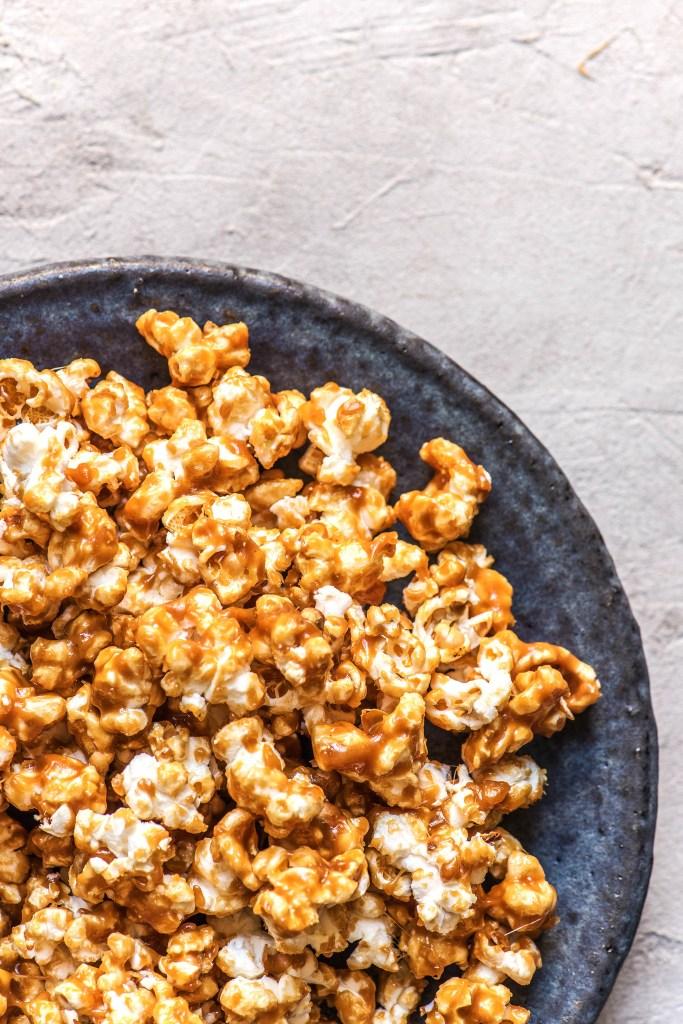 maple syrup recipes-HelloFresh-salted-caramel-popcorn