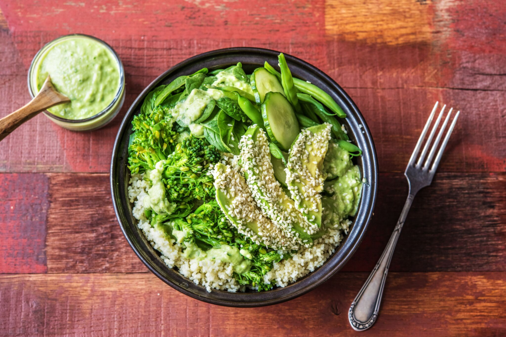 green recipes-veggie-couscous-bowl-HelloFresh