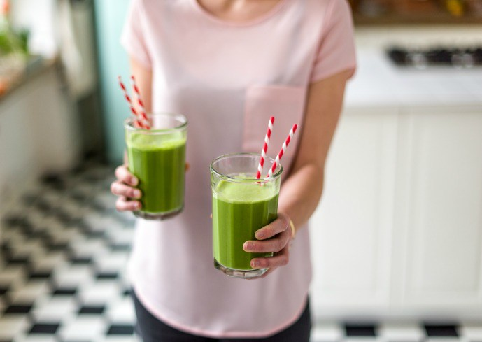 spring-leafy greens-HelloFresh-spinach-green-smoothie