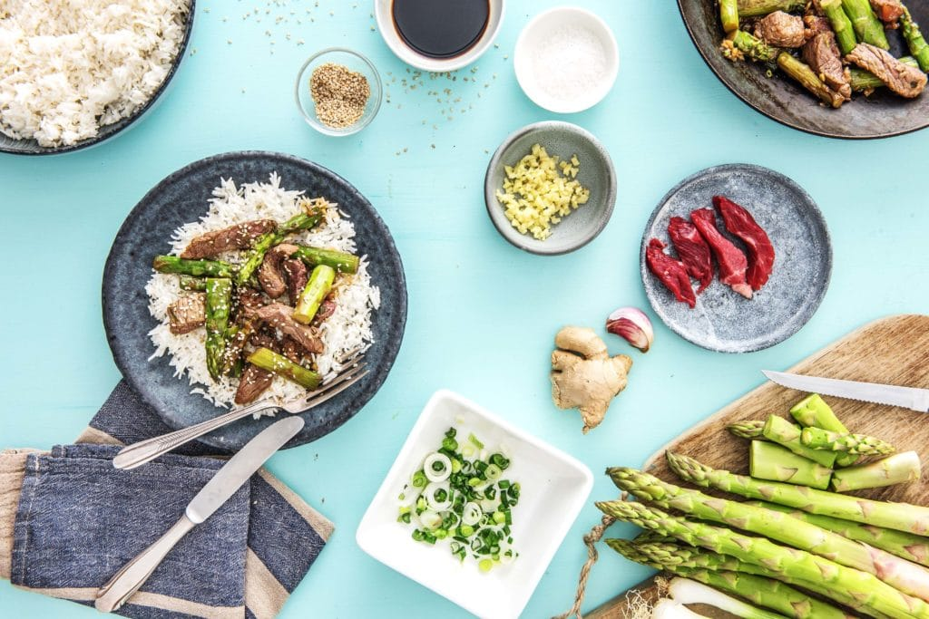 spring vegetables-HelloFresh-asparagus-seasonal
