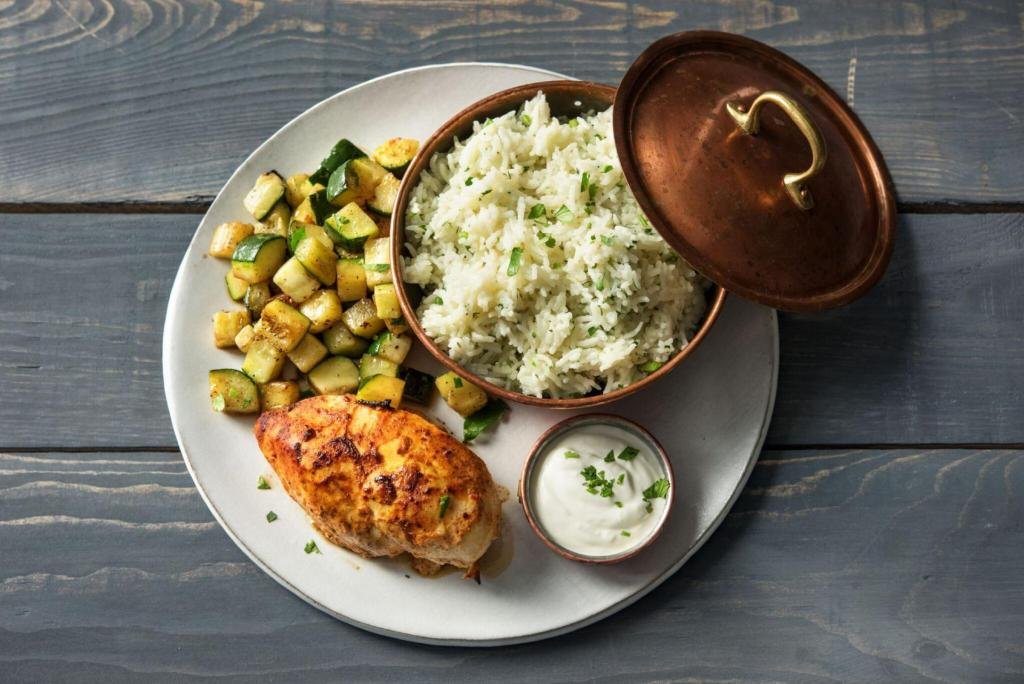 cilantro recipes-reservation-in-HelloFresh-yogurt-marinated-chicken