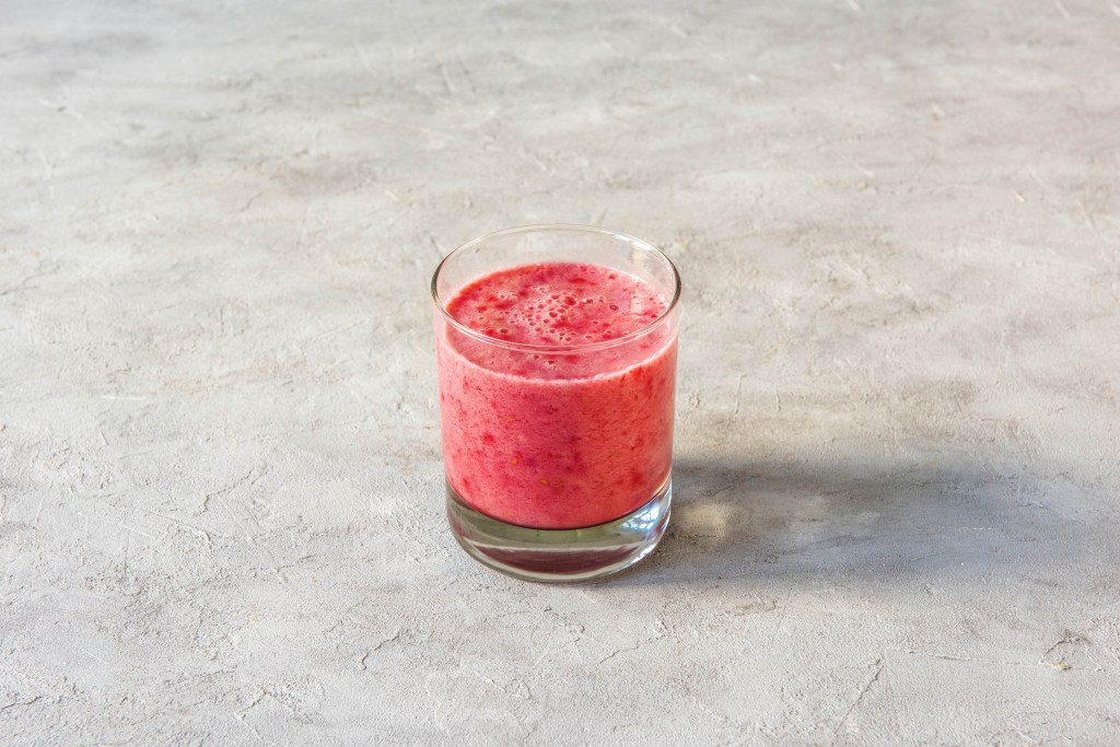 different colored tahini smoothies-raspberry-banana-recipe-HelloFresh