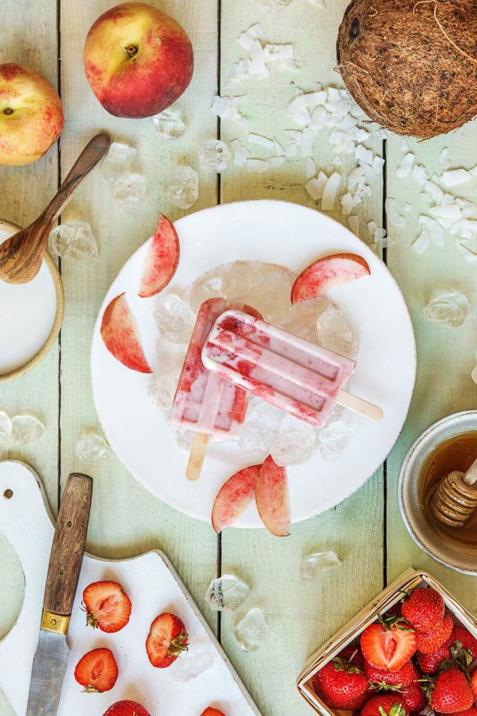 homemade popsicles-strawberry-peach-recipes-HelloFresh