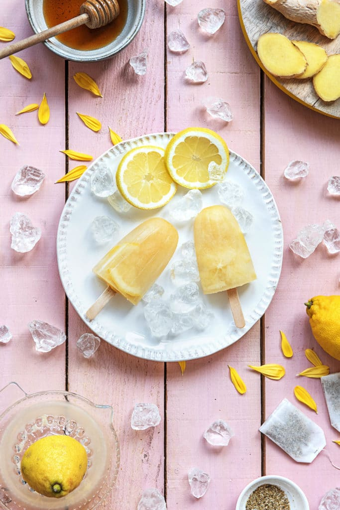 homemade popsicles-lemon-ginger-chamomile-recipes-HelloFresh