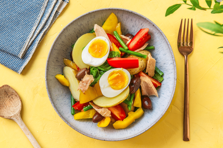 Perfect Boiled Egg-hard-boiled-nicoise-salad-HelloFresh