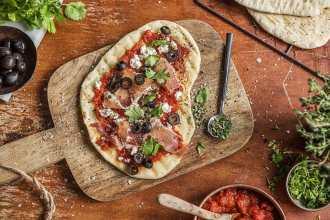 Grilled Greek Flatbread Pizza Recipe