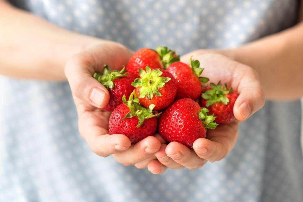 s'mores dip-handful strawberries-HelloFresh