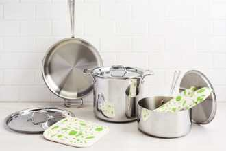 nonstick-stainless steel pots and pans-HelloFresh-Kitchenware