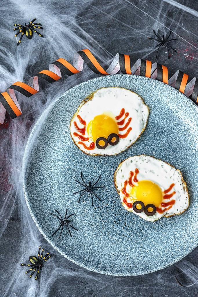easy egg recipes-Halloween-HelloFresh-spider-eggs