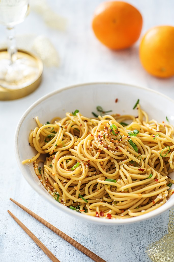Lucky New Year's Recipes-Lucky Foods-HelloFresh-Noodles-Tangerines