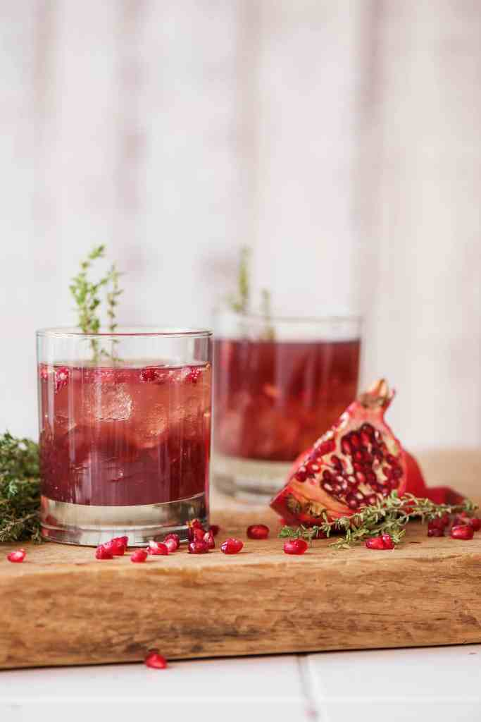 holiday drinks-pomegranate-mocktail-HelloFresh