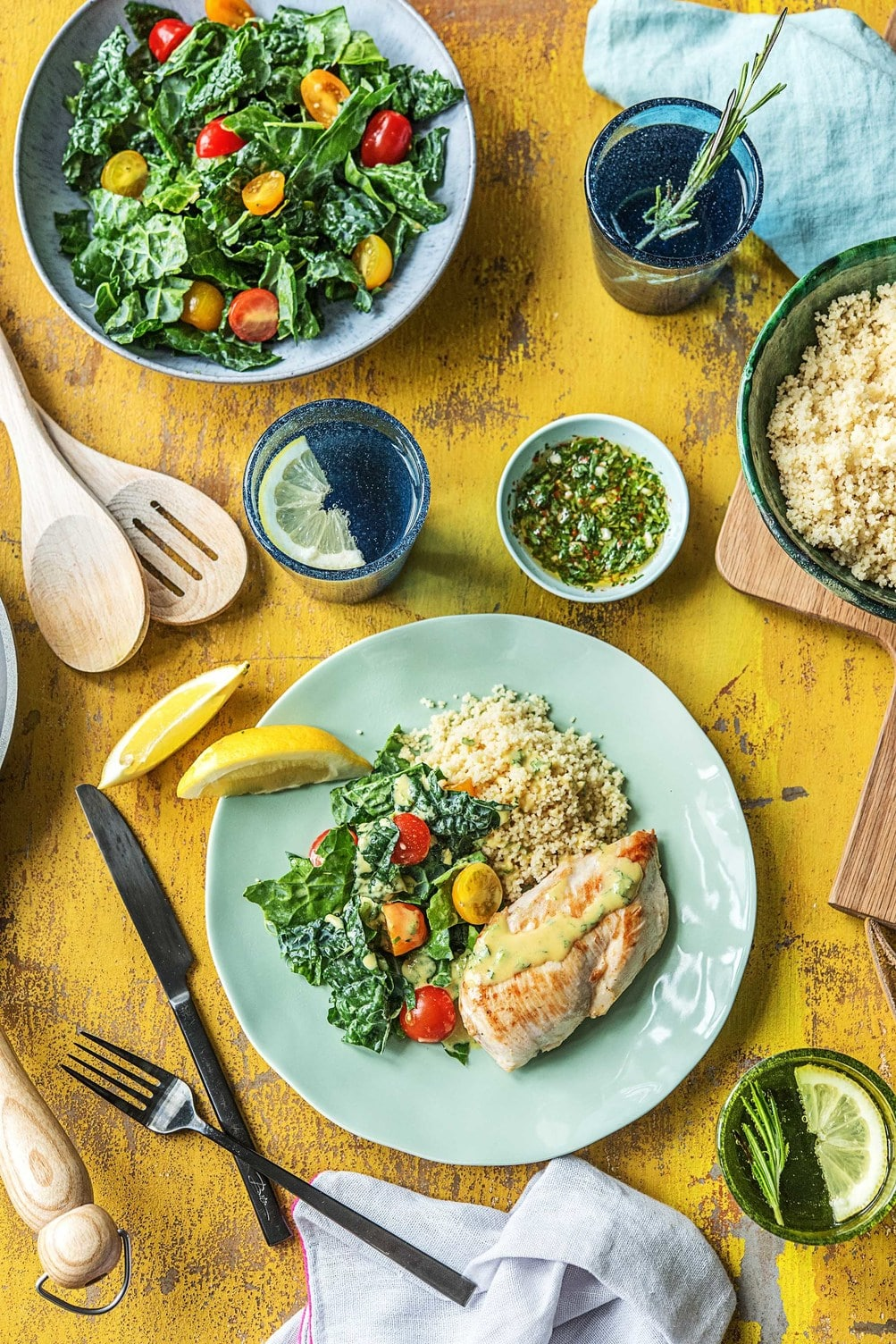 easy chicken recipes for dinner-HelloFresh-tarragon chimichurri