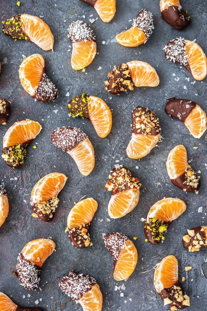 Orange Chocolate-HelloFresh-Dessert-Chocolate dipped-Clementines