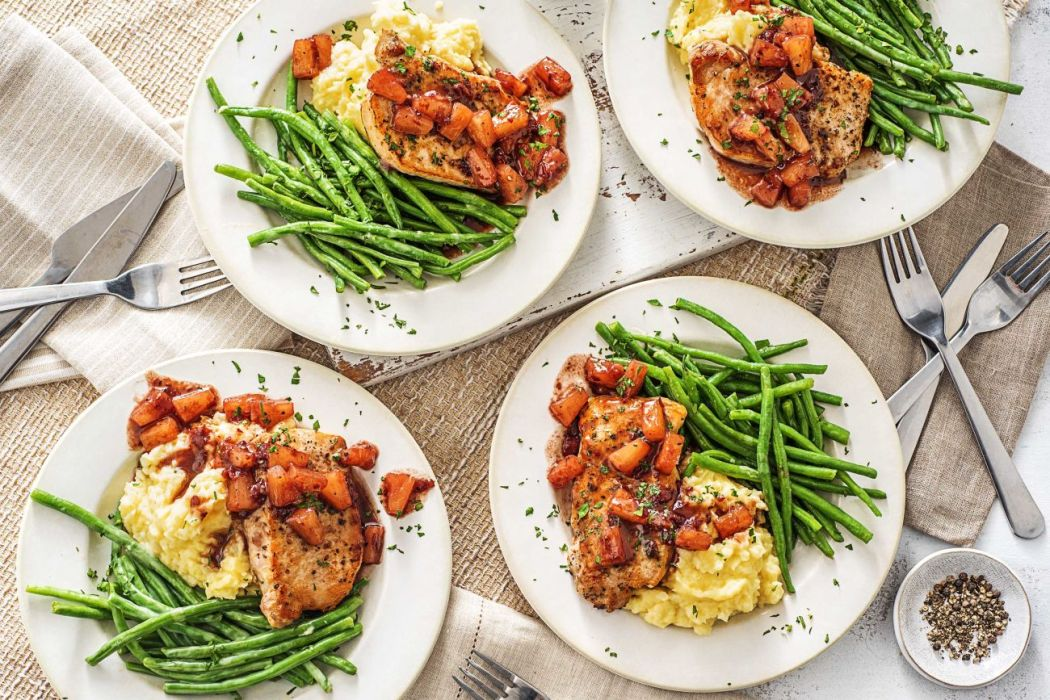 difference between jelly and jam-HelloFresh-pineapple pork chops