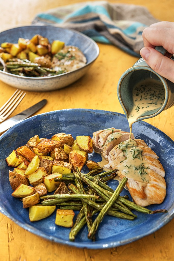 recipes with dill-HelloFresh-chicken-potatoes-green-beans
