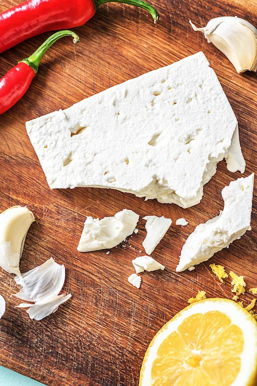 types of cheeses-HelloFresh-feta-cheese