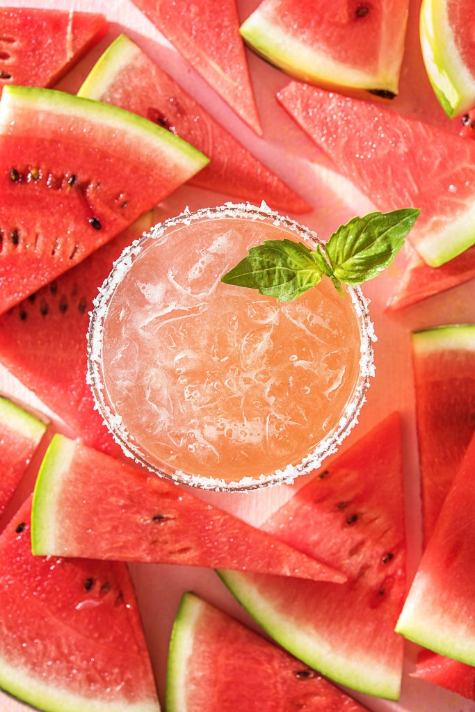 margarita recipes-basil-watermelon-HelloFresh