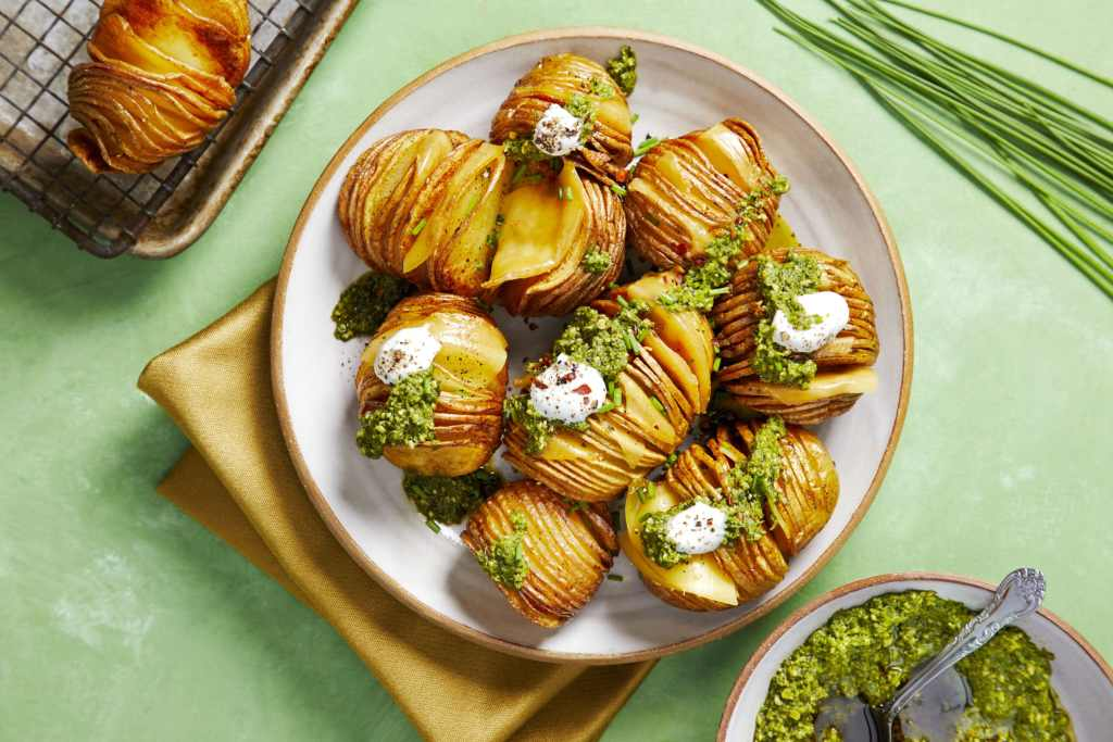 4 St. Patrick's Day Recipes - Hasselback Potatoes
