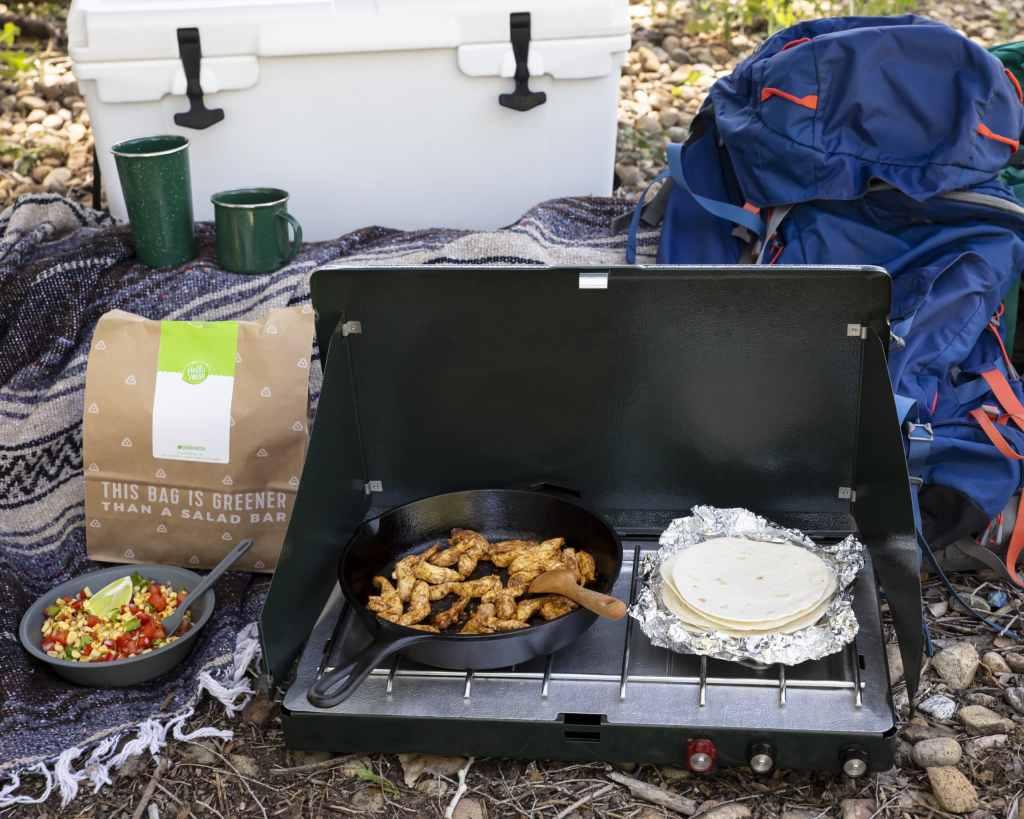 Use HelloFresh while camping