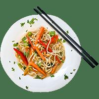 Erdnussliebe! – Asiatische One-Pot-Pasta