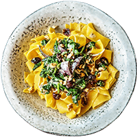 Pappardelle in Gorgonzola-Soße