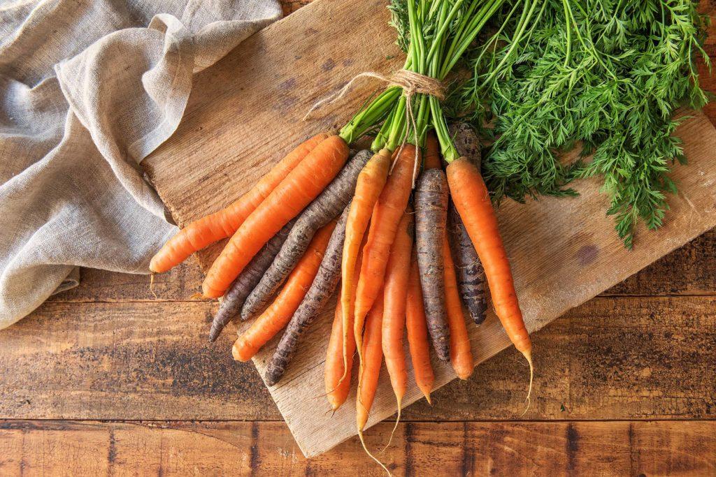 Karotten brauchst Du nur zu bürsten
