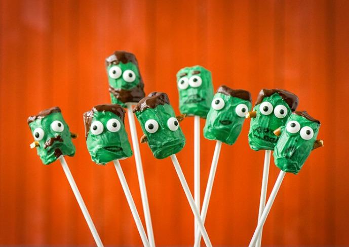 Frankenstein am Stiel – Unsere Marshmallow Pops zu Halloween