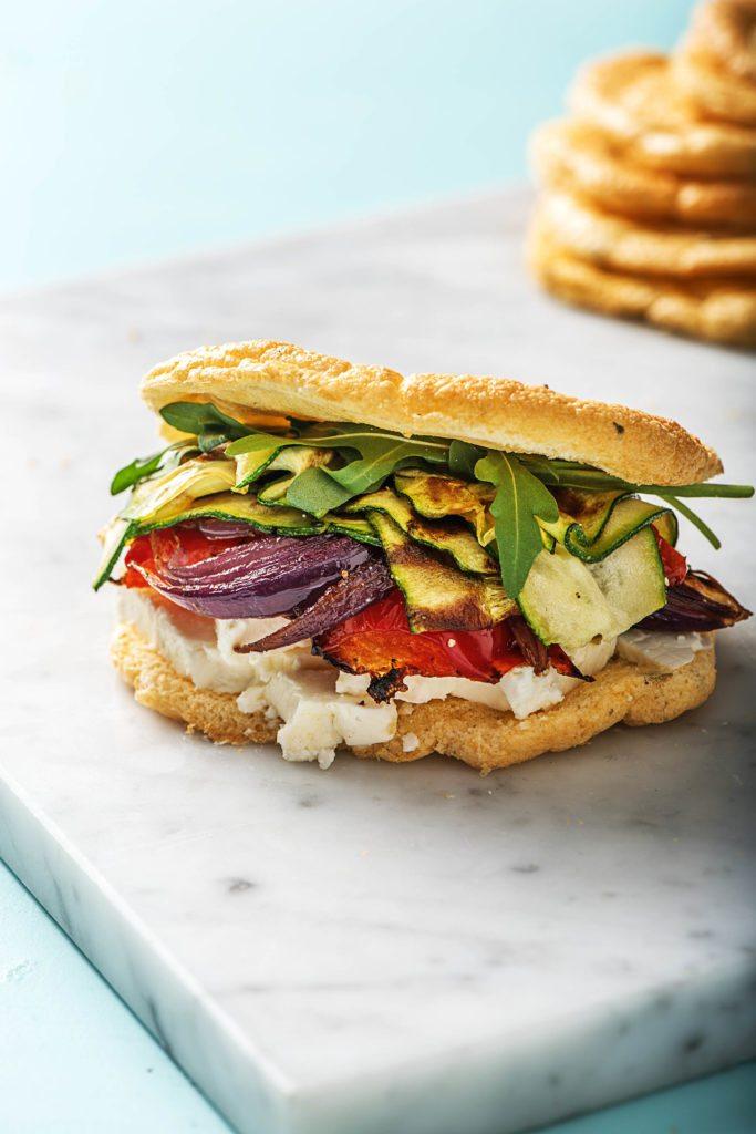Schafskäse-Gemüse-Cloud Bread