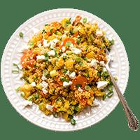 Feurig-scharf: Bunte Couscous-Gemüsepfanne
