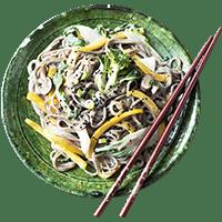 Sobanudel-Gemüse-Pfanne