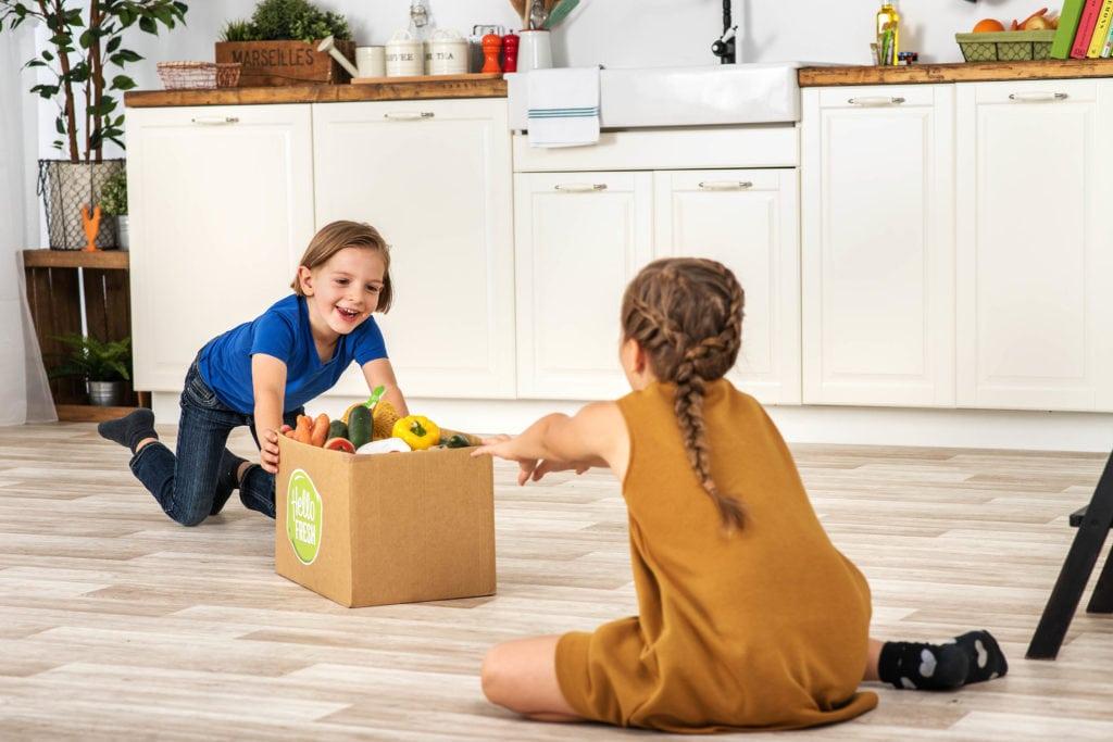 Das Auspacken unserer Kochbox ist für Kinder ein tolles Erlebnis