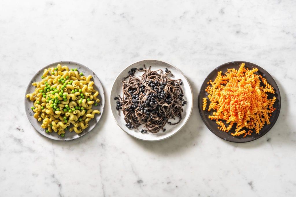 Low Carb Nudeln aus Linse, Erbse und Bohne