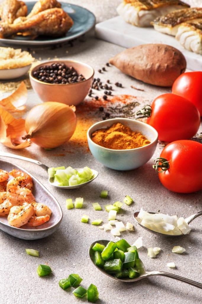 Zutaten in der kreolischen Küche