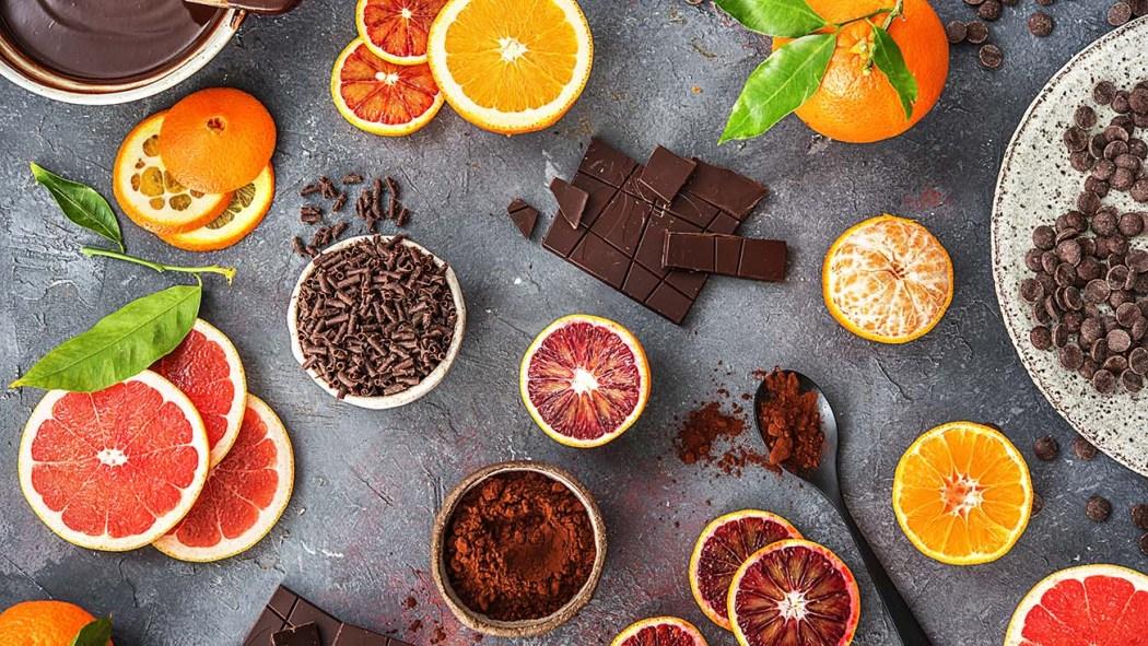 chocolate, chocolade, fruit, sinaasappel