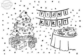 Kidspiration: kerstkleurplaat
