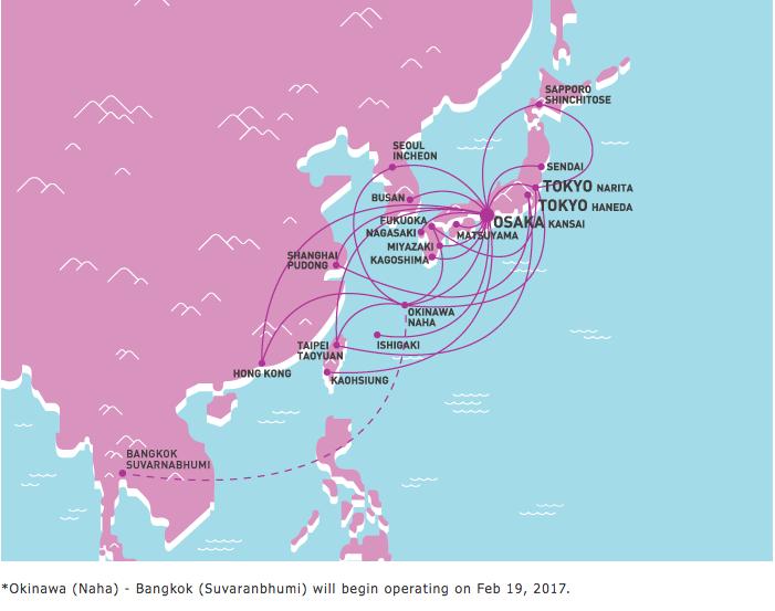 Peach Aviation Route Map