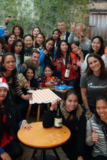 Helpers and Employers at the Christmas Party