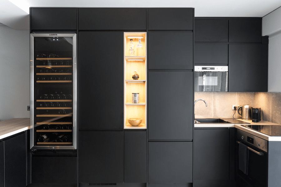 rénovation complète appartement cuisine