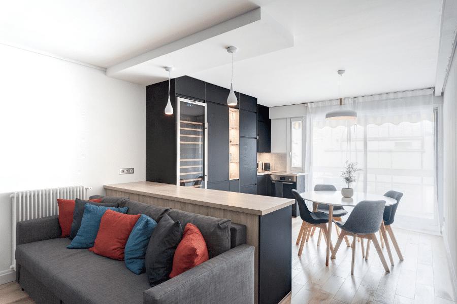 rénovation complète appartement séjour