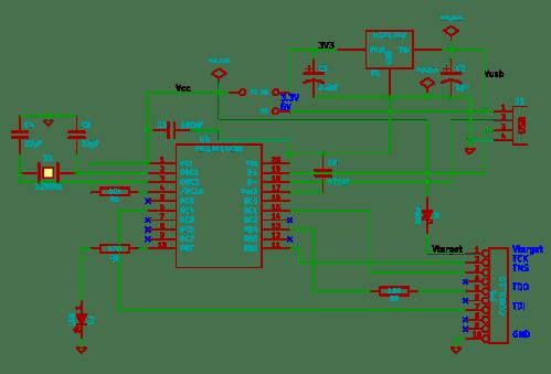 small resolution of usb blaster clone schematic