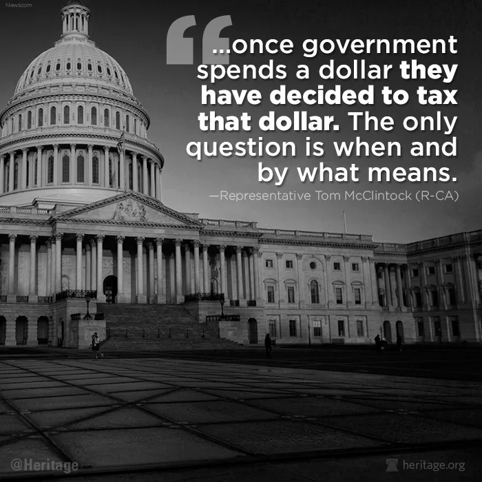 McClintock quote on tax and spend