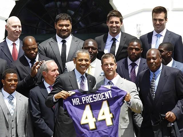 President Barack Obama honors the Ravens