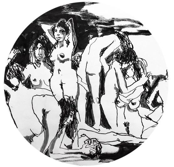 Tine Klein expressiv Aktzeichnung figürlich Zeichnen