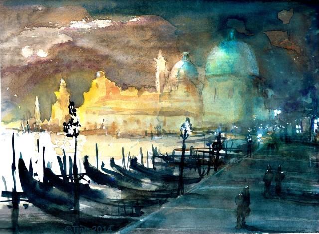 Venedig Tine Klein strahlende Farben