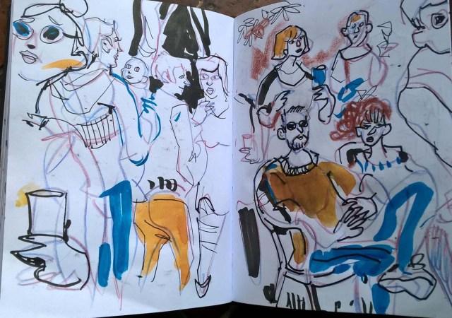 schmuckfarben: Karin Schliehe, Wimmelbild, Blog Herz-der-Kunst