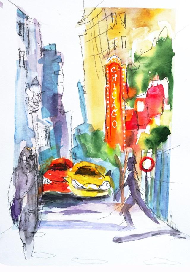 Urban Sketching Malen lernen, Zeichnen lernen , Aquarell, Bremgarten Schweiz, Anleitung