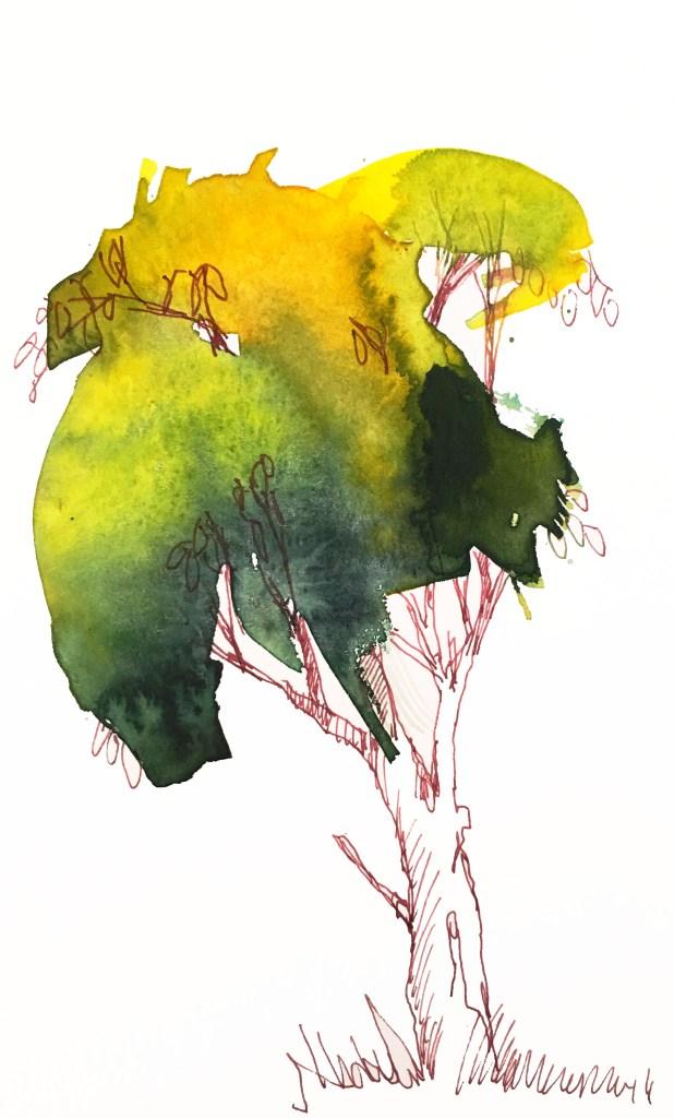 Tine Klein: Tutorial Bäume male, Anleitung Bäume zeichnen
