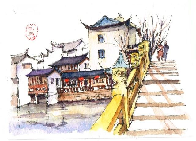 Blog Herz der Kunst Shanghai Altstadt gemalt von Annie