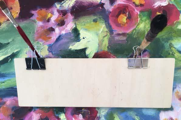 Tine Klein Tutorial Selbstbau Staffelei Urban Sketching Papierklemmen