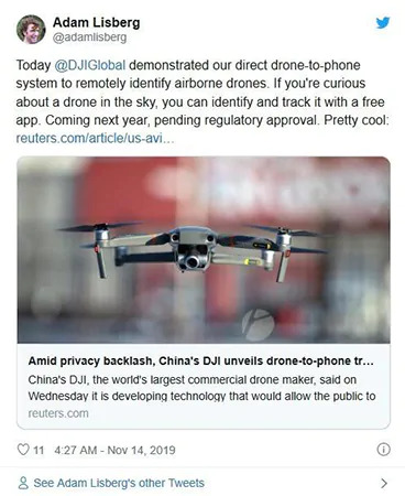 Apps suivi de drones